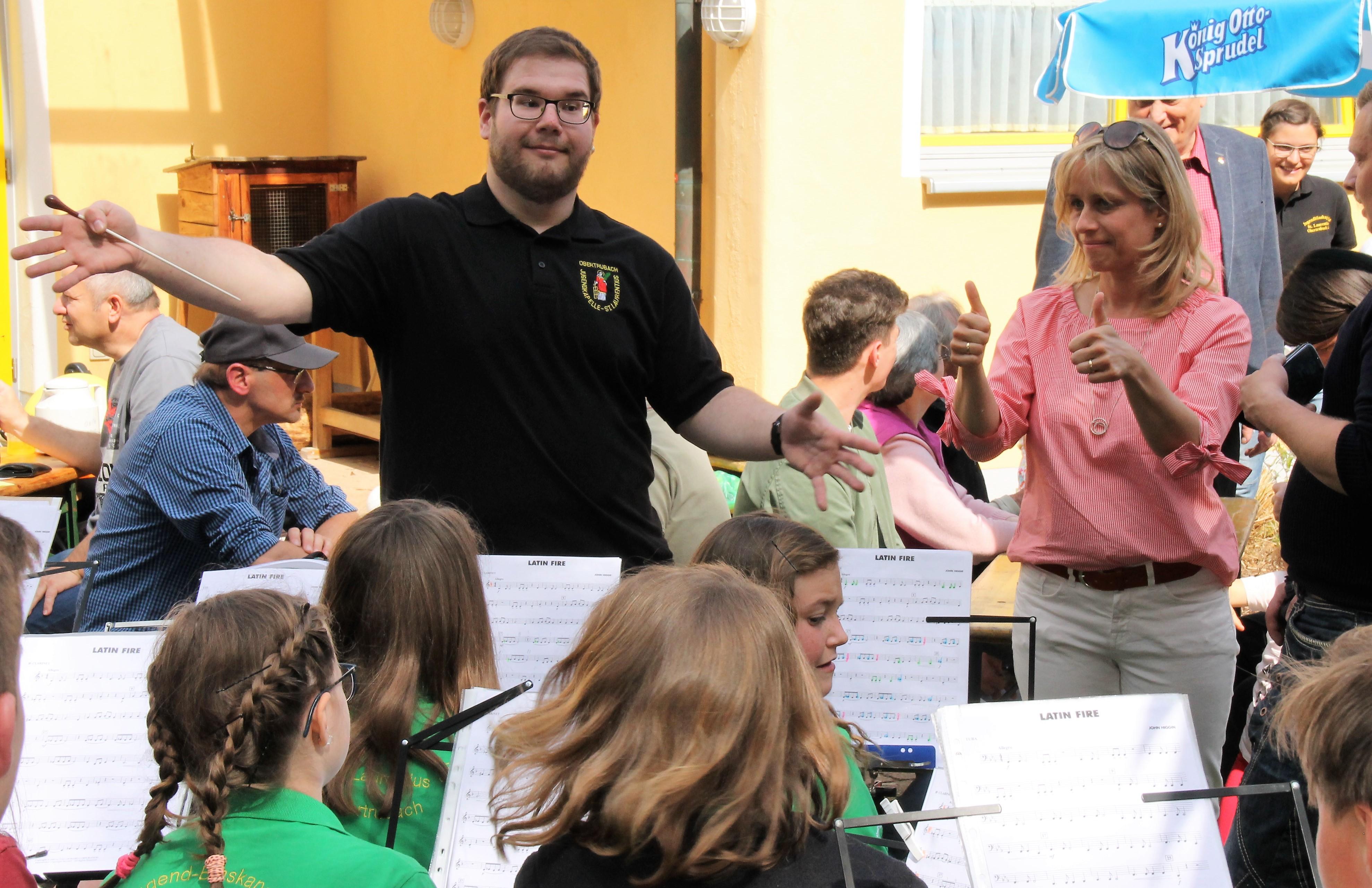 Nachwuchsmusiker beim Kindergarten Frühlingsfest 2018