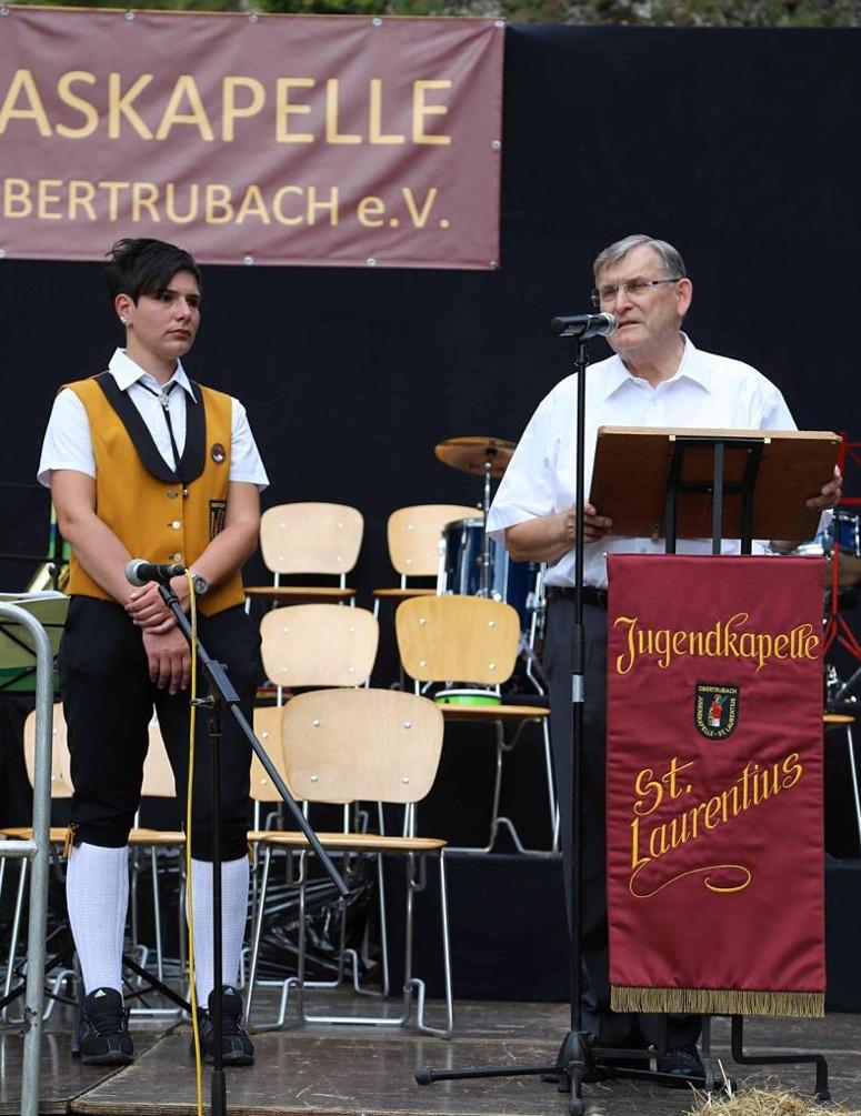 Gründer der Jugendblaskapelle Pfarrer Werner Wolf